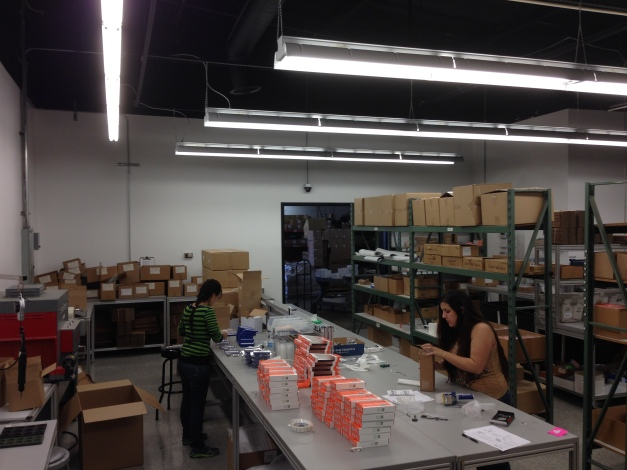 Some of our employees packaging newly produced product