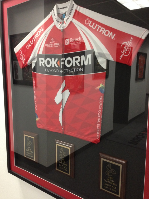 Team Rokform represents us on the cycling front!