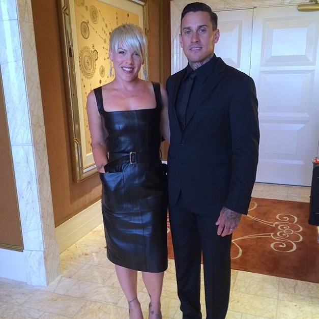 Carey with his wife Pink